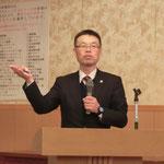 ランデスソーケン(株)の細谷氏による「高炉スラグを活用したコンクリート「ハレーサルト」」の講演
