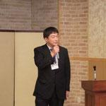 (株)第一コンサルタンツの奥村氏による「落石防護技術国際シンポジウムに参加して」の講演