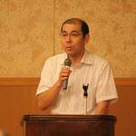 閉会の挨拶をされる高知県橋梁会の吉田幸男副会長