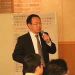 最後の発表は日本プロテクト(株)の加賀山肇社長による落石対策
