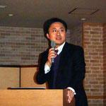 愛媛大学の全准教授による「20m長尺プレファブ橋梁の開発」の講演