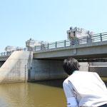 北上川の新追波橋。2006年に架設されたプレテンションのPC橋。