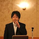 (株)技研の後藤氏による「スーパーボックスカルバート 復興道路への対応」の講演