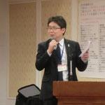 高知県商工労働部工業振興課の岡崎氏による「高知県における防災関連産業の取り組み」の講演