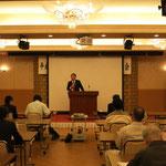 福井国土強靱化総合調査会事務総長による「国土強靱化について」の講演