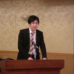 (株)日本パーツセンターの中口氏による「津波・漂流物防護柵(津波ガード)」の講演