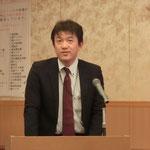 (株)横河住金ブリッジの竹内氏による「津波対策関連製品の紹介」の講演