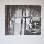 Klaus Stopper, Bleistiftzeichnung aus der Serie Marktplatz 3, 2012