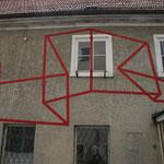 Renate Scherg, Fassaden- Installation Kunsthaus 2012