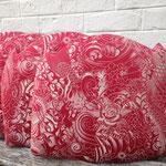 Réfection tissu d'une série de 6 galettes de chaises - Tissu Jean-Paul Gaultier Komodo
