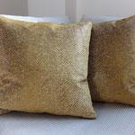 Housses de coussins 40x40 cm - Coussins garniture plumes - tissu Créations Métaphore