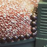 Réfection complète de fauteuil style Directoire : tissu Orée coloris Lave de Lelièvre Paris