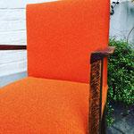 Réfection fauteuil Bridge tissu Lana coloris Paprika de Lelièvre Paris
