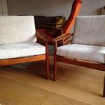Confection de coussins déhoussables pour fauteuils scandinaves - Tissu Balou de JAB