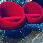 Réfection de fauteuils vintage en tissu Humphrey de JAB