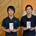 個人戦ファイナリスト:左・優勝/小宮選手、右・2位/上野選手