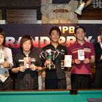 大会Top4&ベストアマ(右端の小川徳郎選手)