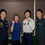 通過者左から:西尾祐、嶋野聖大、渡辺剛史、菅谷慎太郎