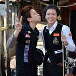 大井直幸(左)&吉岡正登