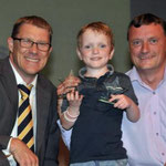 Mark Waldron with a very happy Sam and Dad