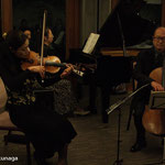 加藤知子さん(ヴァイオリン) 毛利伯郎さん(チェロ) 梅村祐子さん(ピアノ)