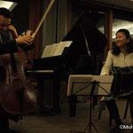海野幹雄さん(チェロ) 小森谷裕子さん(ピアノ) 川波幸恵さん(バンドネオン)