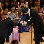 コンサートマスター:藤原浜雄さん、指揮:船橋洋介さん