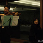 白井篤さん(ヴァイオリン) 小森谷裕子さん(ピアノ)