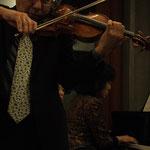 藤原浜雄さん(ヴァイオリン) 三上桂子さん(ピアノ)