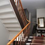 Treppe zum 1.Obergeschoss, Hotel Grunewald, Digitale Sammlung Museum Bad Nauheim, stellvertretend Beatrix van Ooyen, Foto: Jürgen Wegener, Bad Nauheim