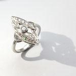 bague or blanc palladié diamants