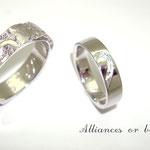 """alliance or blanc """"écorce"""""""