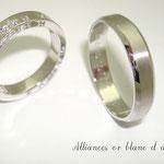 allainces or blanc et diamants