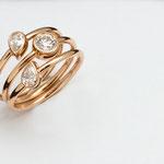bague or rouge, diamants