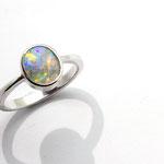 bague argent et opale Brésil
