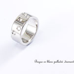 bague or blanc diamants