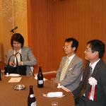 大久保聡美先生、右城猛代表幹事、増田義博副支部長