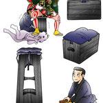 第9回合引 歌舞伎 挿絵 高麗屋 逸品 市川染五郎 エッセイ 挿絵 雑誌 連載 イラスト プライベート