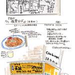 食べ物 飲み物 グルメ スケッチ 挿絵 イラスト メモ マーカー 水彩 記録 ラーメン