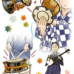 第15鼓 歌舞伎 挿絵 高麗屋 逸品 市川染五郎 エッセイ 挿絵 雑誌 連載 イラスト プライベート