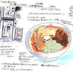ラーメン 食べ物 飲み物 グルメ スケッチ 挿絵 イラスト メモ マーカー 水彩 記録