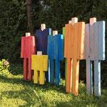Familie, Holz Acryl bemalt, 2015-08