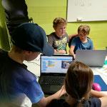 Programmieren mit Scratch im Quartierzentrum Aussersihl, Pro Juventute Ferienplausch Zürich