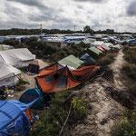 Foto ders illegalen Flüchtlingscamp in Calais in Nordfrankreich