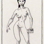 "Comic-Figur / der ganze Comic-Strip gedruckt in ""Objekt Mann"", Promedia.Verlag 1986"