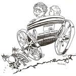 """""""Hochzeitskutsche"""" / Tusche und Filzstift auf Transparentpapier"""