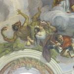 Ein Foto-Ausschnitt dieses Kuppelfreskos diente als Vorlage für das Cover des Buches