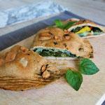 Dinkel Empanadas mit Spinatfüllung