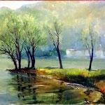 lago di Lugano, 30X40 - 1950