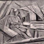 vecchia foto in bianco e nero, 1931 - 35X35